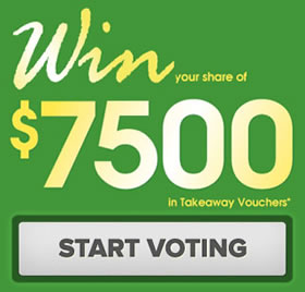 Vote for Mario Brothers on MenuLog Tasty Takeaway Awards and win your share of $7500 in Takeaway Vouchers!